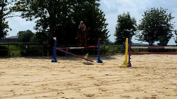 Rosso avec Clothilde entrainement saut super