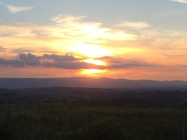 Coucher de soleil, vu du centre équestre